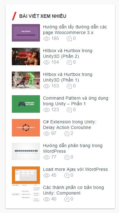 Sắp xếp bài viết theo lượng người xem Wordpress