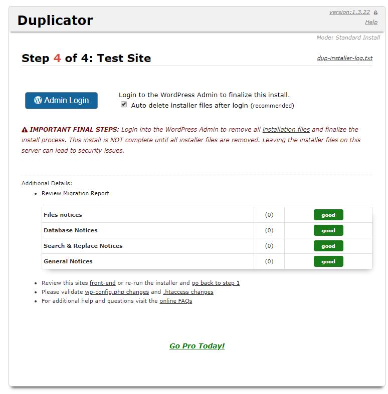 Hướng dẫn sử dụng Duplicator để nhân bản Website Wordpress