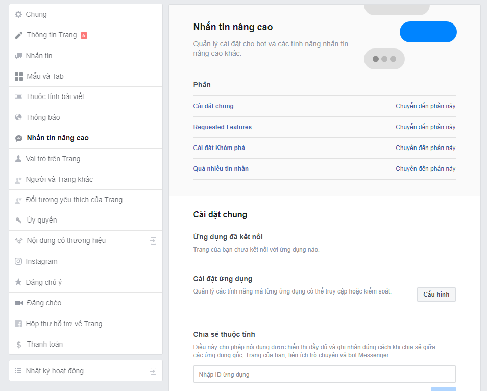 Hướng dẫn tích hợp Facebook Messenger vào Website