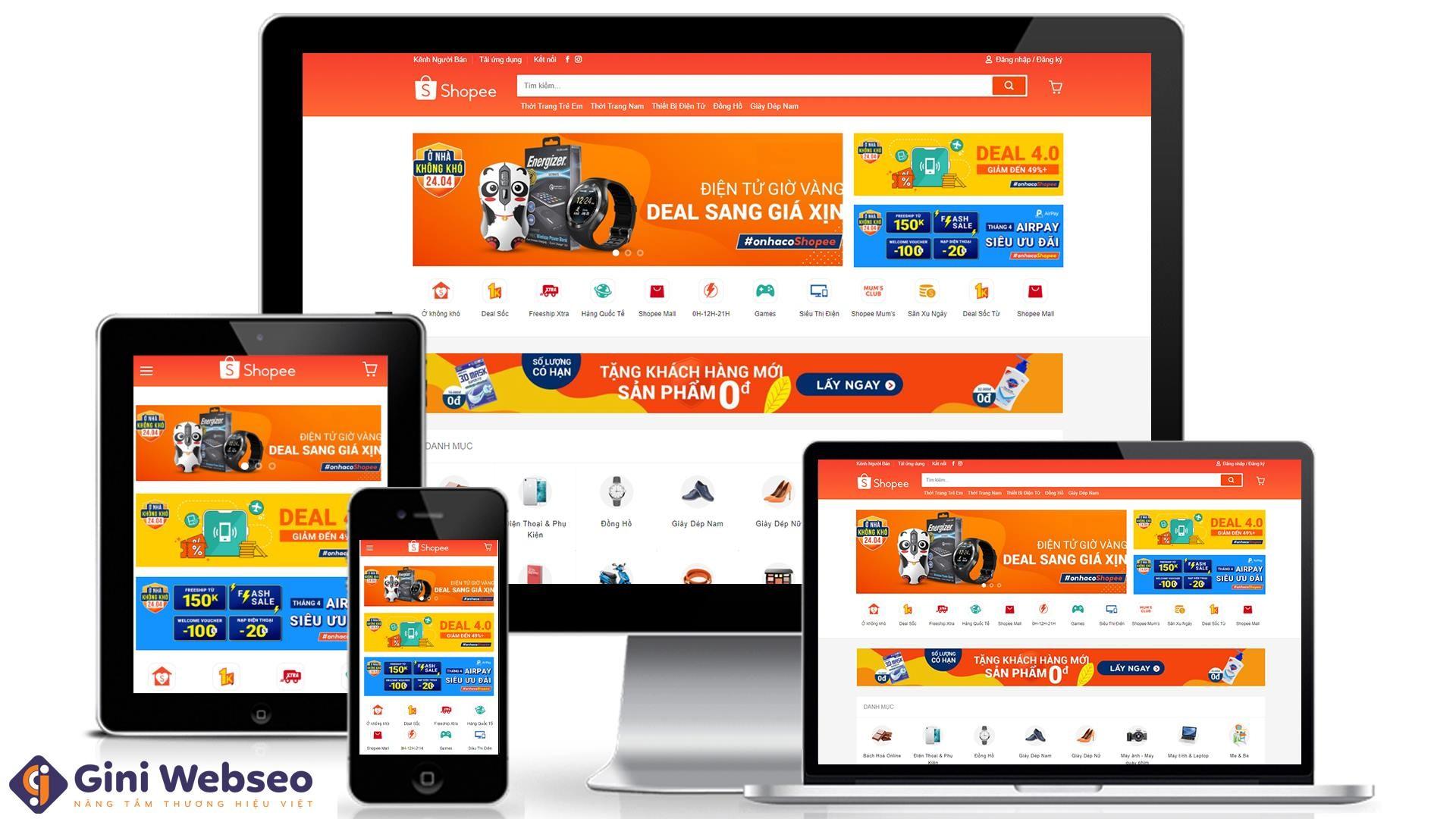 Thiết kế website bán hàng Shopee