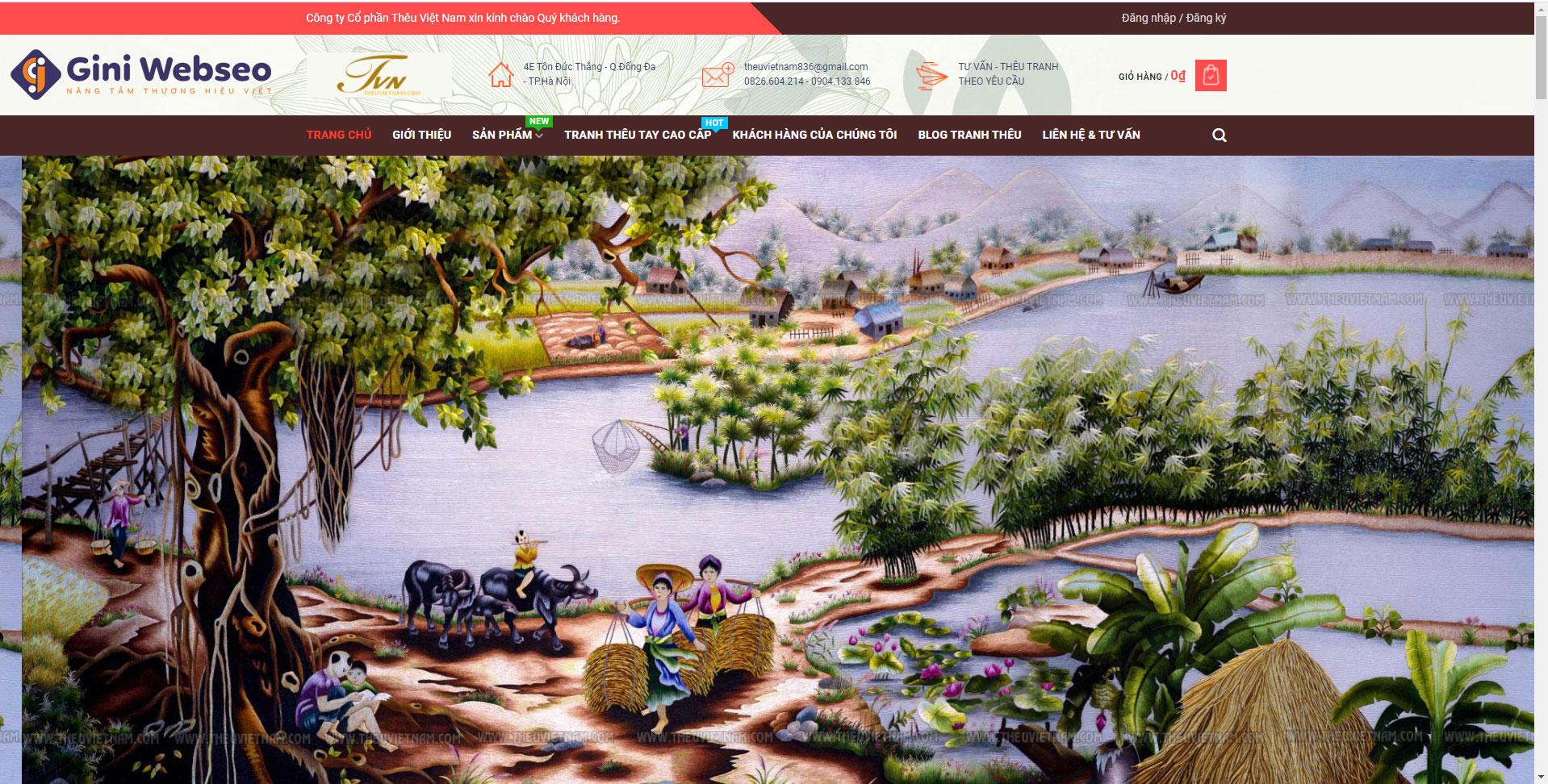 Thiết kế website tranh thêu Việt Nam