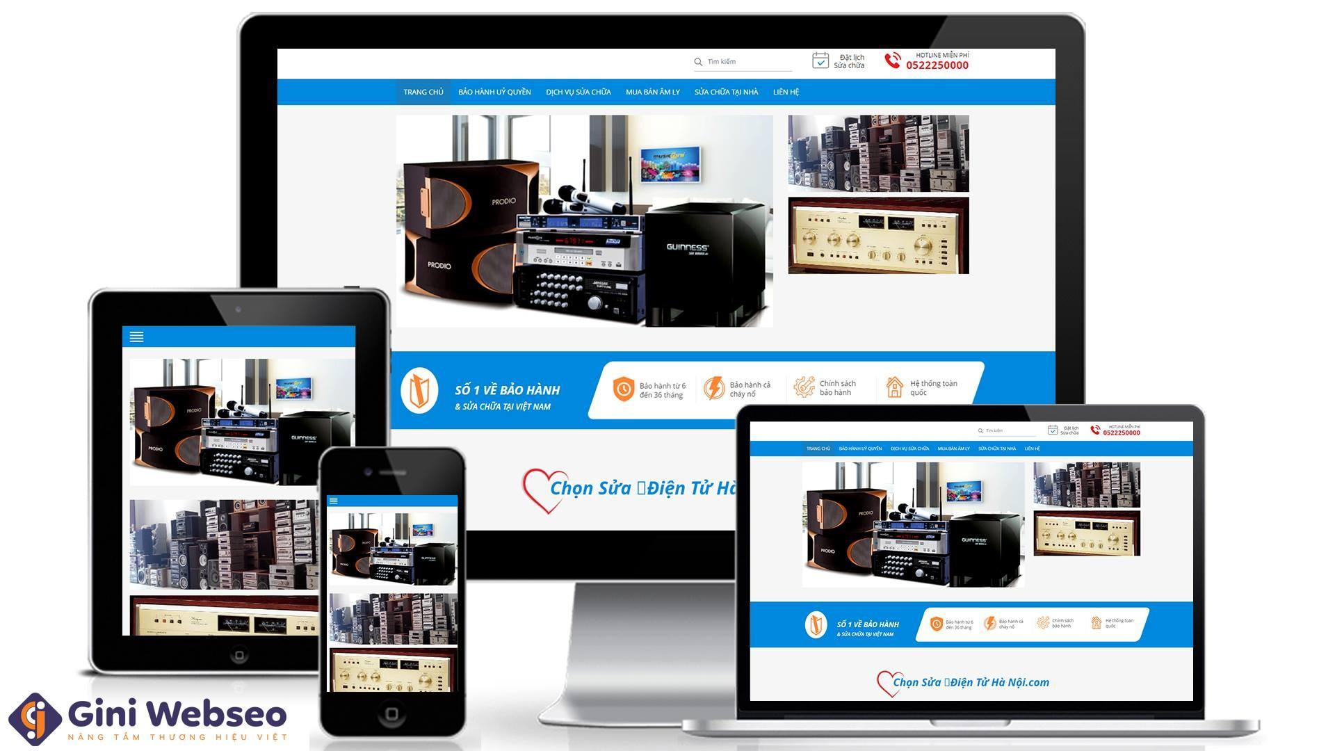 Thiết kế website Sửa chữa laptop 24h.com