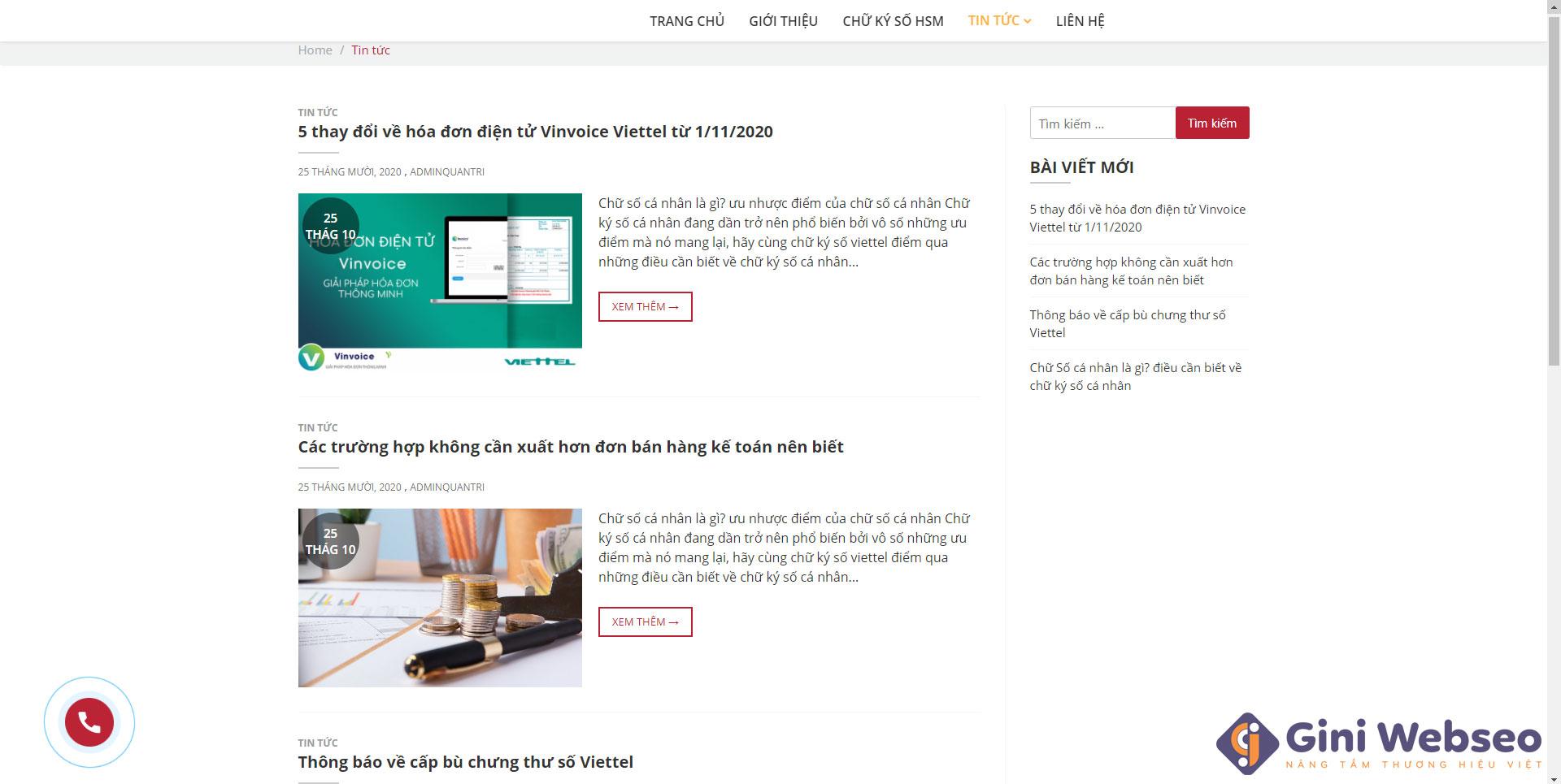 Thiết kế website hóa đơn điện tử IMC