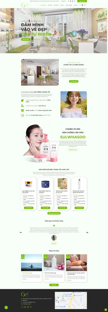 Thiết kế website spa Anna Korea