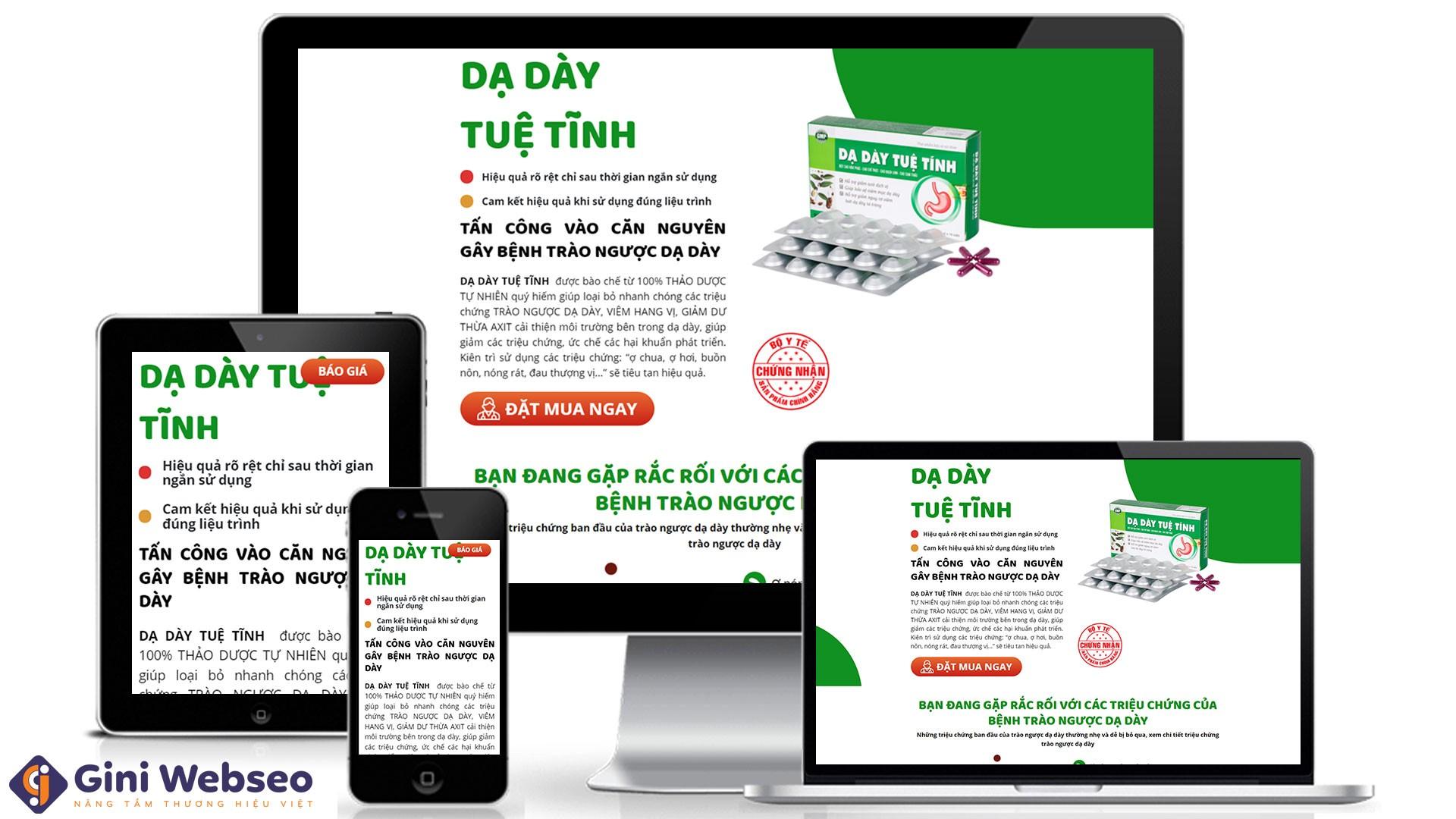 Thiết kế website sản phẩm chức năng Dạ Dày Tuệ Tĩnh