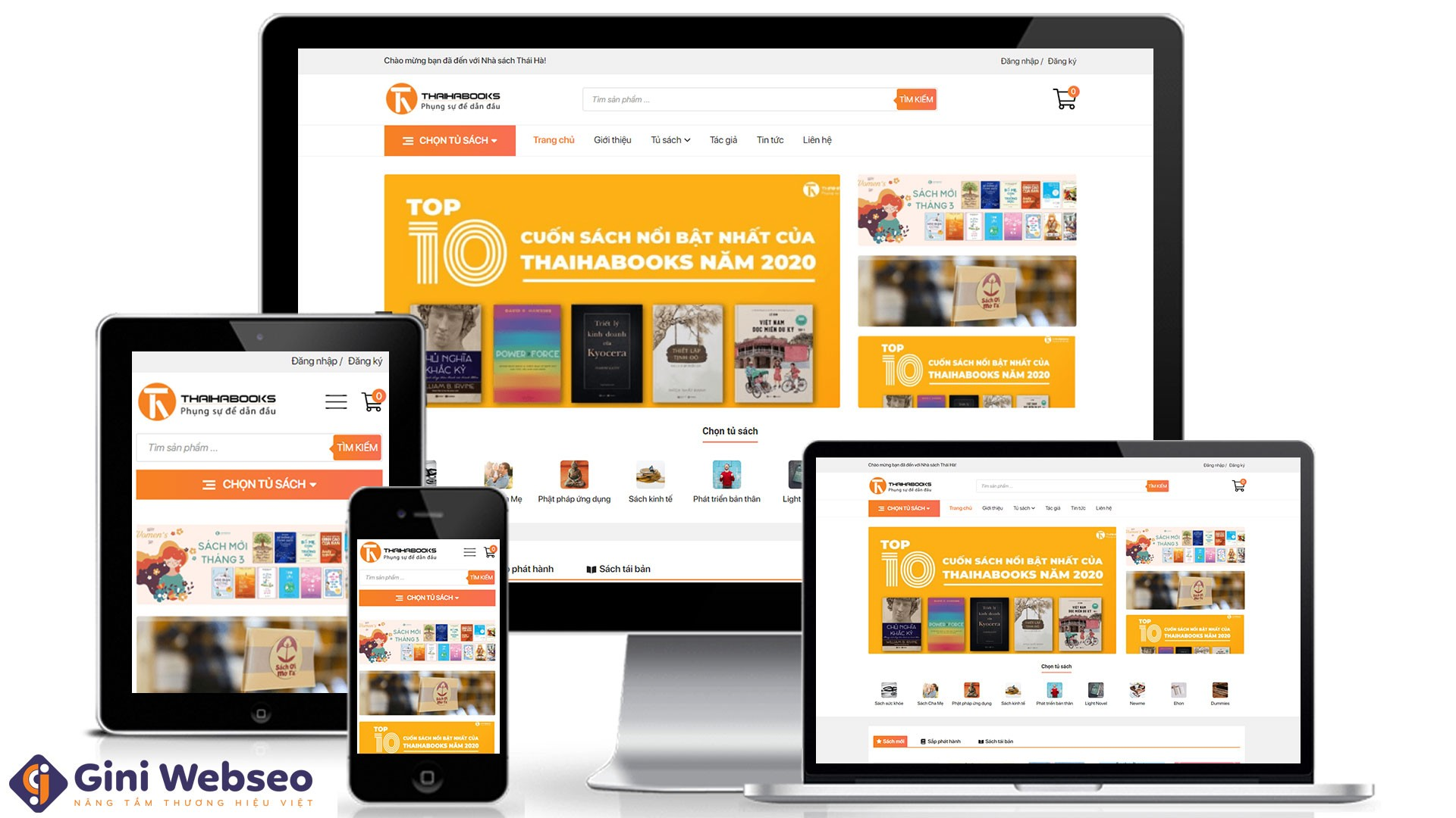 Thiết kế website nhà sách Thái Hà