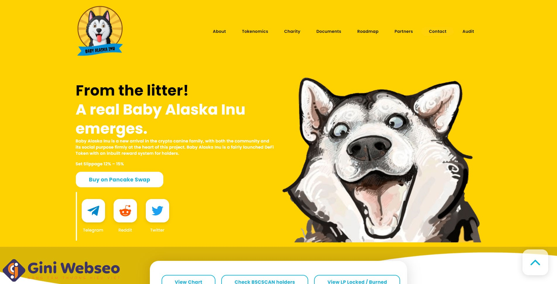 Thiết kế website tiền ảo Baby Doge Coin