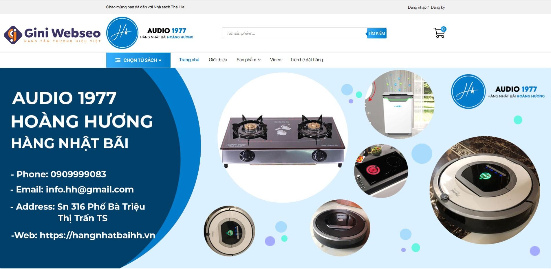 Thiết kế website đồ gia dụng Hoàng Hương